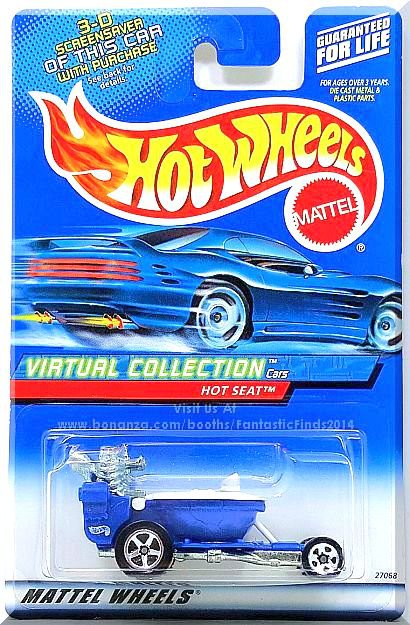 Hot Wheels - Hot Seat: Virtual Collection Cars #101 (2000) *Blue Edition*