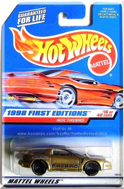 Hot Wheels - IROC Firebird: 1998 First Editions #16/40 - Collector #653 *Gold*