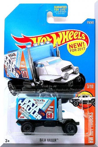 Hot Wheels - Baja Hauler: HW Hot Trucks #179/365 (2017) *White/Blue Edition*