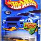 Hot Wheels - Jeepster: Collector #144 (2002) *Yellow Edition / Race & Win Card*