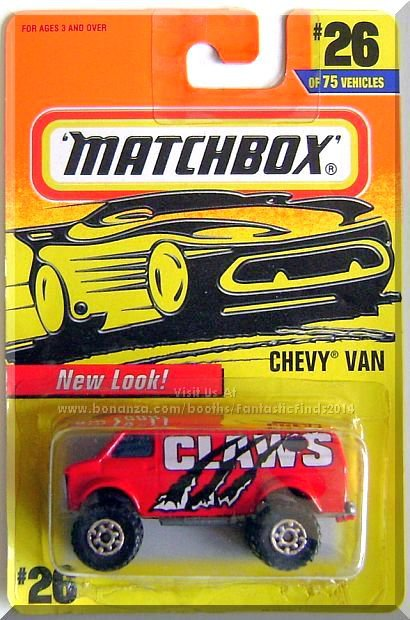 Matchbox - Chevy Van: Collector #26/75 (1997) *Red Edition / New Look!*