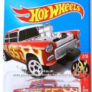 Hot Wheels - '55 Chevy Bel Air Gasser: HW Flames #2/10 - #12/365 (2017) *Red*
