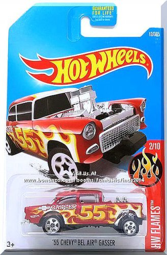 Hot Wheels - '55 Chevy Bel Air Gasser: HW Flames #2/10 - #12/365 (2017) *Red*