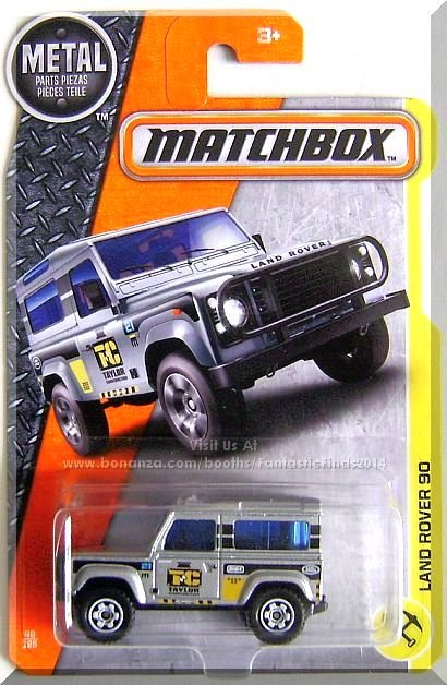 Matchbox - Land Rover 90: MBX Construction #48/120 (2017) *Silver Edition*
