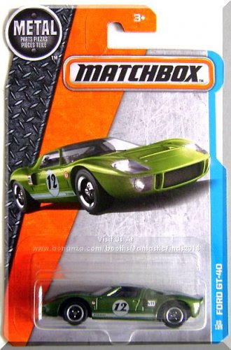 Matchbox - Ford GT-40: MBX Adventure City #23/125 (2017) *Green Edition*
