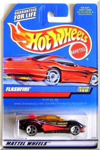 Hot Wheels - Flashfire: Collector #140 (1998) *Black Edition / 5 DOT*