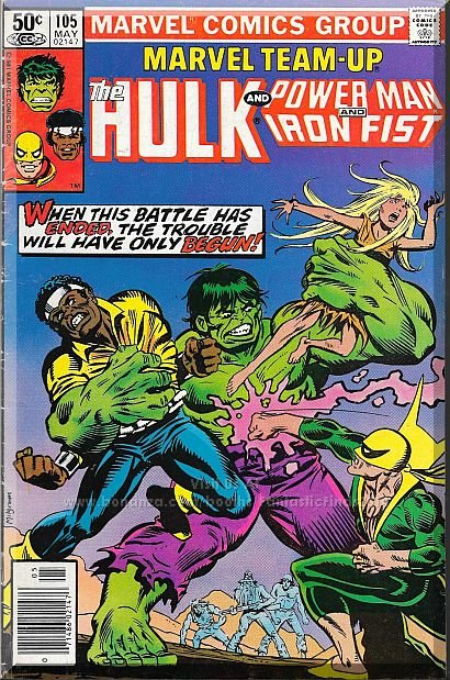 Marvel Team-Up #105 (1981) *Bronze Age / Marvel Comics / The Hulk / Iron Fist*