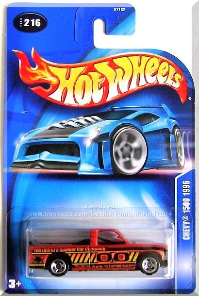 Hot Wheels - Chevy 1500 1996: Collector #216 (2003) *Orange Edition*