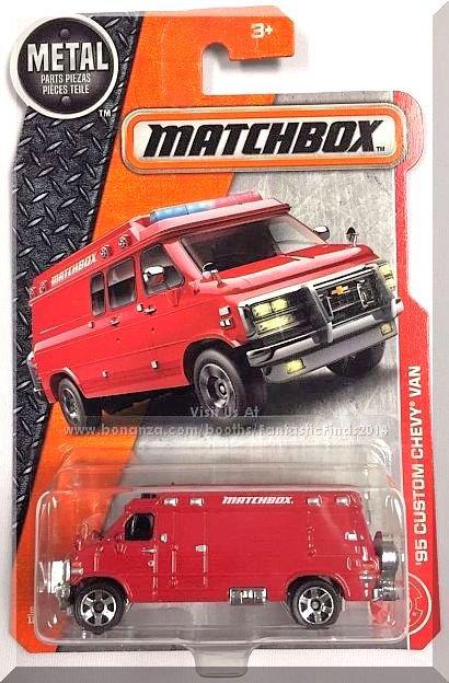 Matchbox - '95 Custom Chevy Van: MBX Heroic Rescue #87/125 (2017) *Motorcycle*