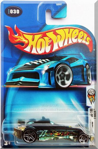 Hot Wheels - F-Racer: 2004 First Editions #30/100 - Collector #030 *Blue Chrome*