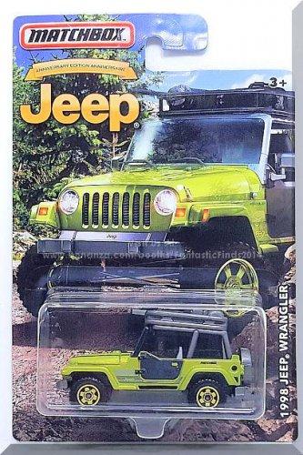 Matchbox - 1998 Jeep Wrangler: 75th Anniversary Edition #6 (2016) *Green*