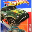 Hot Wheels  Baja Beetle: Thrill Racers - Jungle #4/6 - #214/244 (2011) *Teal*
