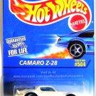 Hot Wheels - Camaro Z-28: Collector #504 (1996) *White Edition / 3 Spoke*