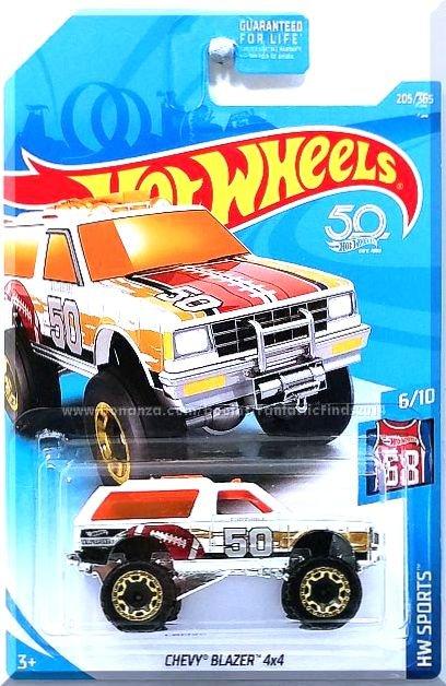 2018 Hot Wheels HW SPORTS 6//10 Chevy Blazer 4x4 205//365 Int. Card