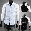 Mens Long Sleeved casual slim fit shirt (2 colours)