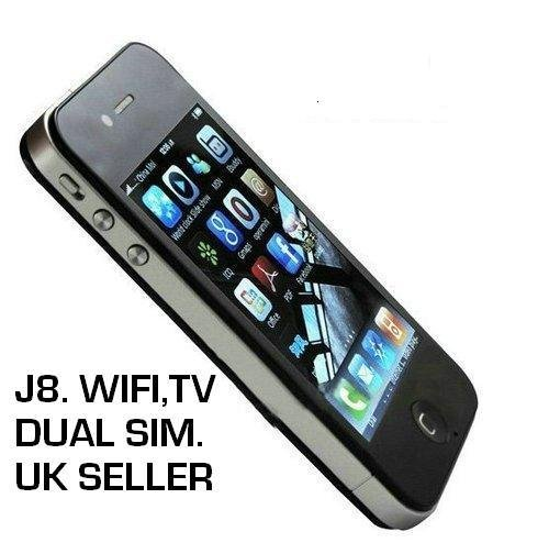 "I68 4G J8 mobile quadband dual sim phone.Touch screen"" WIFI"" QUALITY ITEM"