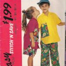 McCalls 5925 Pattern Boys Girls Shirt w/ Pocket, Elastic Waist Pants,Shorts Size 3-5 Cut to 5