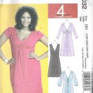 2010 McCalls 6032 Plus Size Pattern  Dress Front Loop creating drape effect Size 18W-24W Uncut