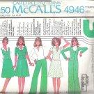 1976 McCalls 4946 Pattern Vintage 1970s Jacket Skirt Pants Vest Top Size 12-16 Part Cut to 16