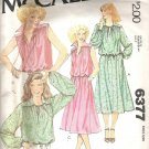 1976 McCalls 6377 Pattern Pullover Top Drawstring Neck & Waist Skirt  Back Zipper  Medium  Cut
