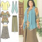 2011 Simplicity 2195 Pattern Tunic, Top, Vest, Pants, Skirt Size 10-18 Uncut