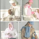 2005 Simplicity 4316 Pattern Hats Scarfs, Mittens, Gloves Dog Coats & Hat  Uncut