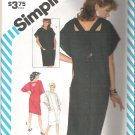 1983 Simplicity 6215 Loose-Fitting Dress with Back Straps Size 6-10  Partial Cut to 8