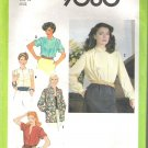 1979 Simplicity 9060 Pattern Blouse Shirt Jacket Pleated Front Shoulders Size 14 Cut