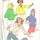 1974 Simplicity 6783 Pattern Vintage Teens Butterfly Top  Hoodie  Size 12 &14  Partial Cut to 14