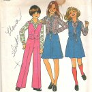 1977 Simplicity 7909 Pattern Girls Skirt and Wide Leg Pants Size 7 and 8 Cut