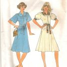 1976 Simplity 7845 Pattern Front Zip Dress Kimono Sleeves Inset Yoke and Collar  Size 12  Cut