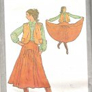 1979 Simplicity 8904 Pattern Vintage Western Look Skirt Unlined Jacket  Size 14 Part Cut