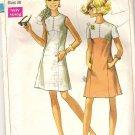 1969 Simplicity 8086 Pattern Vintage Dress Princess Line Skirt Button Trimmed Bodice  Size 16  Cut