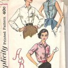 Simplicity V-2195  Pattern Vintage Blouse Shirt Top  Size 16  Cut