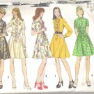 1974 Simplicity 6201 Vintage Dress with Flared Skirt and Front Button Closing  Size 16  Cut