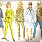 1967 Simplicity 6975 Pattern Jrs and Misses  Vintage Jacket Hip-Hugger Pants Skirt  Size 16  Cut