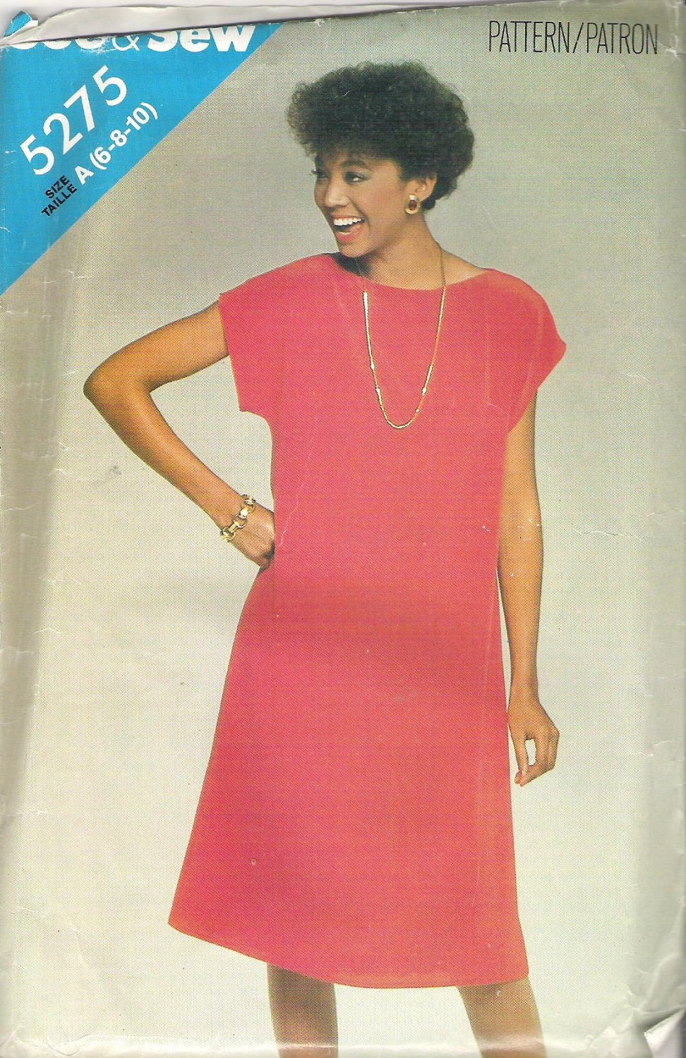 Butterick 5275 Pattern  See & Sew A-Line Pullover Dress  Size 6-10   Cut to 6