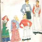 Butterick 4066 Pattern Aprons in Five Styles   One Size Fits All   Cut