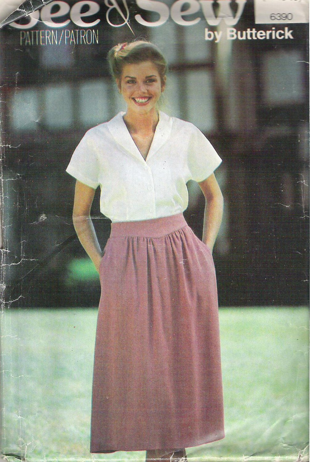 Butterick 6390 Pattern See & Sew  Blouse Shirt Top and Skirt  Size 14-18  Cut to 18
