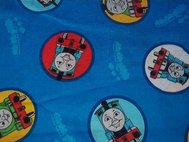 "Thomas the Train Cotton Fabric   28""L x 44""W"