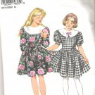 1993 Simplicity 8666 Pattern Girls Vintge Look Dress  Size 7-14  Cut to 14
