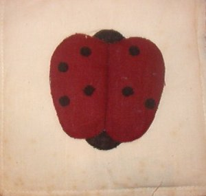"""Country Clutter Hand Made Patches Red Black Ladybug 5 1/2"""" x 5 1/2"""""""