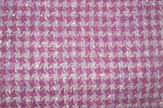 """Purple Grey Plaid Wool Like Fabric  1yd x 56"""" wide"""