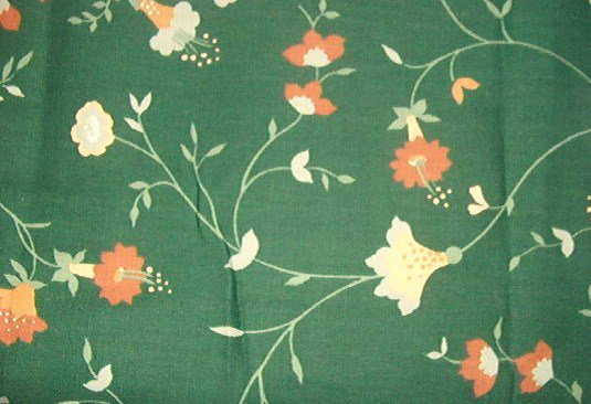 """Waverly """"Tanglewood"""" Green, Rust, Gold Home Decor Fabric  7 1/6"""" x 48"""" wide"""