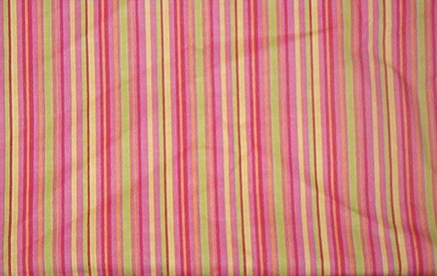 """Shades of Pink with Yellow, Green and Orange Stripes  Cotton Fabric  2 1/8 yd x 45"""" wide"""