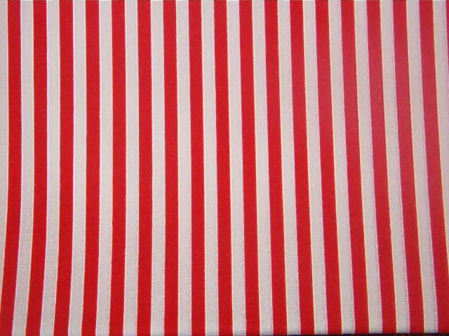 """Red and White Stripes  Cotton Fabric  2 yds x 45"""" wide"""