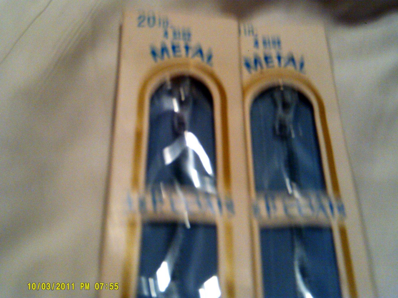 """20"""" Blue J&P Coats All Purpose Metal Zipper"""