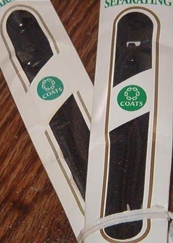 "22"" Black Coats & Clark Medium Weight Separating Zipper"
