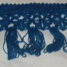 "Blue Cotton Fringe  3 1/2"" w x 8 3/8 yds"