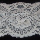 "White Scalloped Lace with Flower Pattern  4 1/4"" w x 3 1/2 yds"